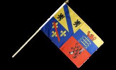 France Ain Hand Waving Flag - 12 x 18 inch