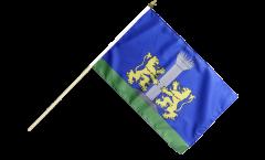 France Ajaccio Hand Waving Flag - 12 x 18 inch