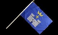 France Angoulême Hand Waving Flag - 12 x 18 inch
