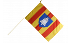 France Ariège Hand Waving Flag - 12 x 18 inch