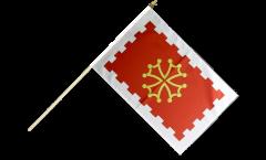 France Aude Hand Waving Flag - 12 x 18 inch