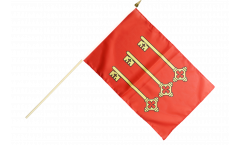 France Avignon Hand Waving Flag - 12 x 18 inch