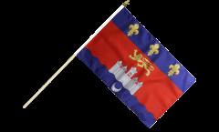 France Bordeaux Hand Waving Flag - 12 x 18 inch