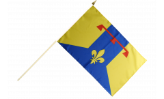 France Bouches-du-Rhône Hand Waving Flag - 12 x 18 inch