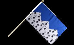 France Côtes-d'Armor Hand Waving Flag - 12 x 18 inch