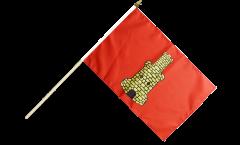 France Caen Hand Waving Flag - 12 x 18 inch