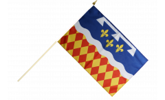 France Charente Hand Waving Flag - 12 x 18 inch