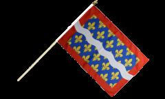 France Cher Hand Waving Flag - 12 x 18 inch