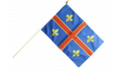 France Clermont-Ferrand Hand Waving Flag - 12 x 18 inch