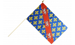France Creuse Hand Waving Flag - 12 x 18 inch