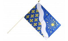 France Essonne Hand Waving Flag - 12 x 18 inch