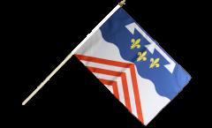 France Eure-et-Loir Hand Waving Flag - 12 x 18 inch