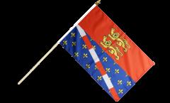 France Eure Hand Waving Flag - 12 x 18 inch