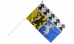 France Finistère Hand Waving Flag - 12 x 18 inch