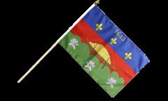 France French Guiana Cayenne Hand Waving Flag - 12 x 18 inch