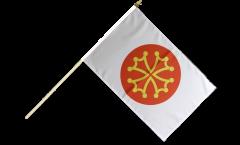France Hérault Hand Waving Flag - 12 x 18 inch