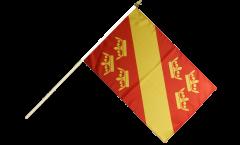 France Haut-Rhin Hand Waving Flag - 12 x 18 inch