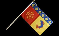 France Hautes-Alpes Hand Waving Flag - 12 x 18 inch
