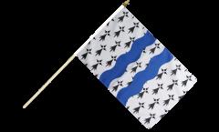 France Ille-et-Vilaine Hand Waving Flag - 12 x 18 inch