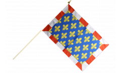 France Indre-et-Loire Hand Waving Flag - 12 x 18 inch