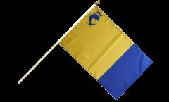 France Isère Hand Waving Flag - 12 x 18 inch