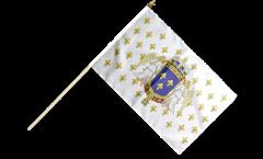 France Kingdom 987 - 1791 Hand Waving Flag - 12 x 18 inch
