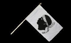 France Corsica Hand Waving Flag - 12 x 18 inch