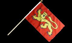 Francia Laval Hand Waving Flag - 12 x 18 inch