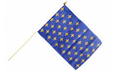 France Fleur-de-lis, blue Hand Waving Flag - 12 x 18 inch
