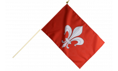 France Lille Hand Waving Flag - 12 x 18 inch