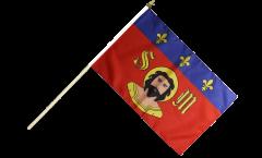 France Limoges Hand Waving Flag - 12 x 18 inch