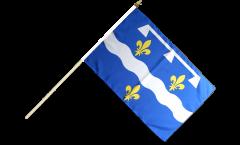 France Loiret Hand Waving Flag - 12 x 18 inch