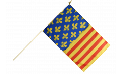France Lozère Hand Waving Flag - 12 x 18 inch
