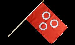 France Mâcon Hand Waving Flag - 12 x 18 inch