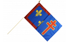 France Maine-et-Loire Hand Waving Flag - 12 x 18 inch