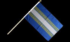 France Marne Hand Waving Flag - 12 x 18 inch
