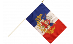 France with crest Hand Waving Flag - 12 x 18 inch