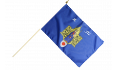 France Montpellier Hand Waving Flag - 12 x 18 inch