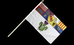 France Nancy Hand Waving Flag - 12 x 18 inch