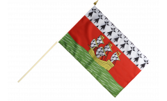 France Nantes Hand Waving Flag - 12 x 18 inch