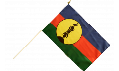 France New Caledonia Kanaky Hand Waving Flag - 12 x 18 inch