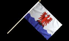 France Nice Hand Waving Flag - 12 x 18 inch
