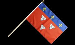 France Orléans Hand Waving Flag - 12 x 18 inch