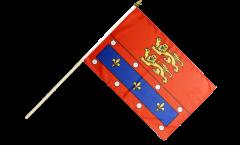 France Orne Hand Waving Flag - 12 x 18 inch