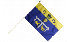 France Pau Hand Waving Flag - 12 x 18 inch