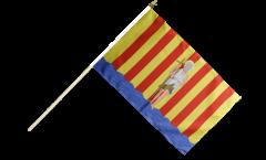 France Perpignan Hand Waving Flag - 12 x 18 inch
