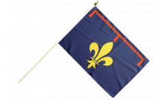 France Provence Hand Waving Flag - 12 x 18 inch