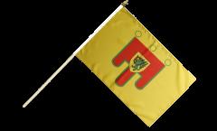 France Puy-de-Dôme Hand Waving Flag - 12 x 18 inch