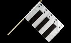 France Rennes Hand Waving Flag - 12 x 18 inch