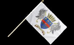 France Saint Barthélemy Hand Waving Flag - 12 x 18 inch